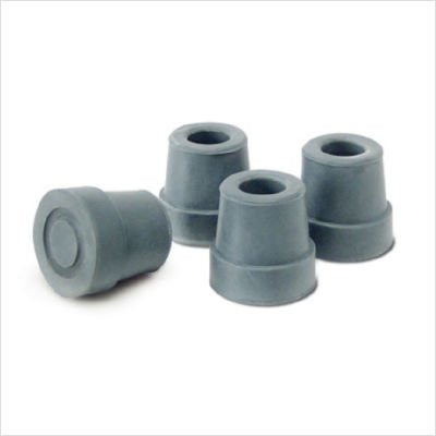 (Lumex Replacement Tips for Small Base Quad Canes 6119A & 6121A, Pack of 4)