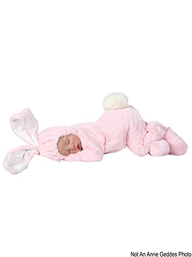 Princess Paradise Baby Anne Geddes Bunny Deluxe Costume, Pink 0/3M ()