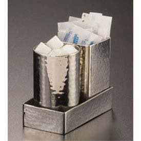 American Metalcraft HMSPT5 American Metalcraft HMSPT5 Sugar Packet/Cube Holder, Hammered, Square, 2 Diameter, 2-3/4 Height, 2 Diameter 2-3/4 Height Inc. - BISS