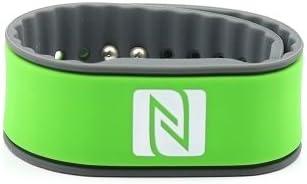 Pulsera de la NFC, Adecuado para los contactos, el Comercio, los Deportes, 924 Bytes (NTAG 216), Resistente al Agua, Verde/Gris, Ajustables: Amazon.es: Electrónica
