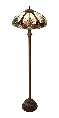 Amber Victorian Floor Lamp (Chloe Lighting CH18780FL 2 Light Victorian Floor Lamp)