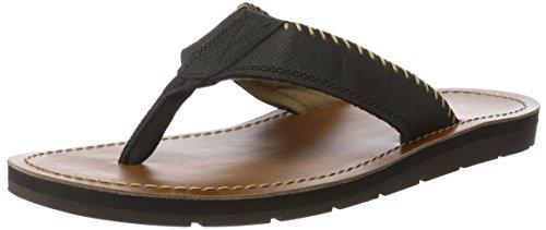 Aldo Men Claviere Open Toe Sandals Black (Black Leather)
