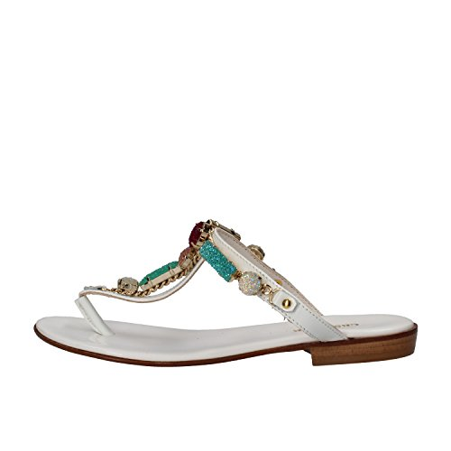 cesare-paciotti-sandals-woman-white-black-patent-leather-8-us-38-eu-white