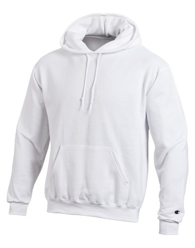 Heavyweight White Pullover Hood (Champion Double Dry Men`s Action Fleece Pullover Hood)