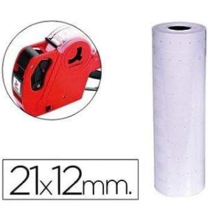 Q-Connect - Etiquetas blanca 21 x 12 mm lisa -rollo 1000 etiquetas para etiquetadora (10 unidades): Amazon.es: Oficina y papelería