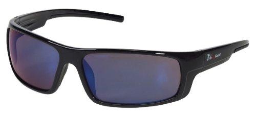 (Box of 12 Liberty Safety Enforcer Black frame blue mirror lens 1724BM)