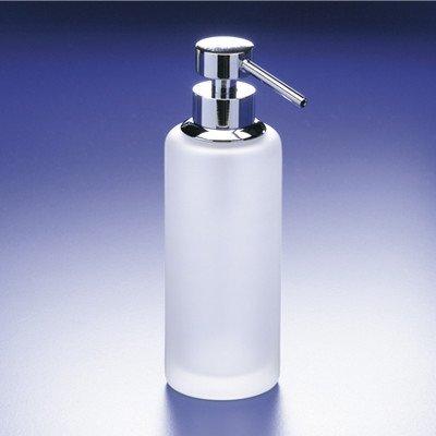 (Accessories Frozen Glass Soap Dispenser Finish: Rustic Gold)