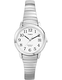 Timex Women's 2H371 Easy Reader With Date, Silver Expansion Band Watch