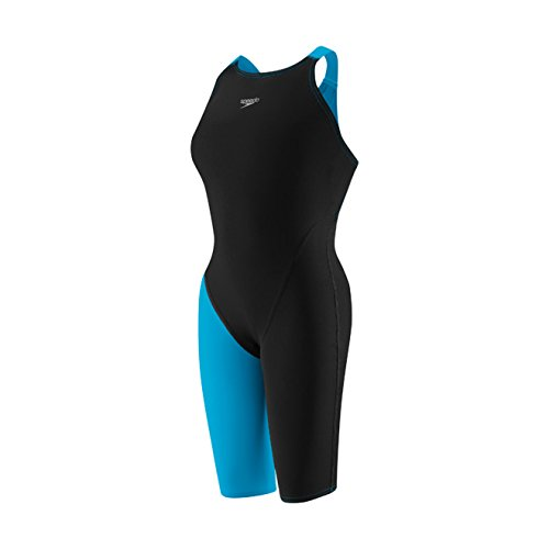 Speedo LZR Racer Pro Recordbreaker Kneeskin with Comfort Strap Female Black/Blue 26 by Speedo