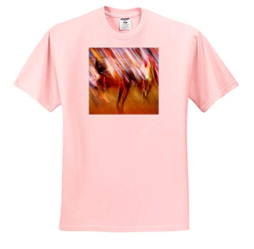 Cassie Peters Abstract - Rodeo Abstract Photography Bucking Horse - T-Shirts - Youth Light-Pink-T-Shirt Med(10-12) (ts_291756_45)