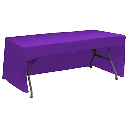 (ABCCANOPY 6 FT Rectangle Tablecloth Table Cover for Rectangular Tables in Washable Polyester-Great for Buffet Table, Parties, Holiday Dinner, Wedding & More(Purple))