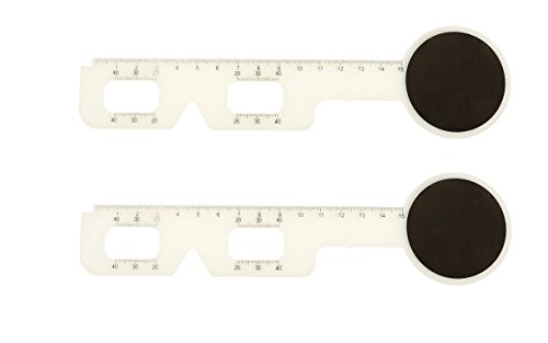 EFK-II SUPPLY 2 Pieces Optical PD Ruler Pupil Distance Meter Eye Ophthalmic Tool w/ Occluder BRAND - Pupillary Distance