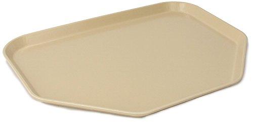 Almond Glasteel (Carlisle 1713FG095 Fiberglass Glasteel Solid Trapezoid Tray, 18.00