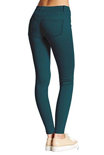 elasticizzato jeans amp; Company HyBrid per donne Teal capri denim wETXX