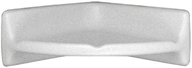 Daltile Bath Accessories White 8 in. x 8 in. Ceramic Wall Mounted Corner Shelf 0100BA7801P