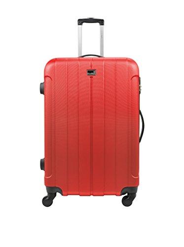 BLUESTAR Set de 3 trolleys rígidos Napoli Rojo