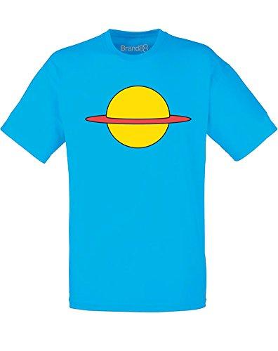 Brand88 Kids Planet, Mens Printed T-Shirt - Azure/Transfer - Men Blue Planet