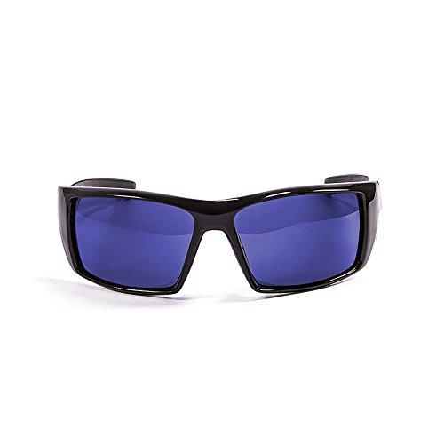 Ocean Sunglasses - Aruba - lunettes de soleil polarisées  - Monture : Noir Laqué - Verres : Revo Bleu (3201.1)