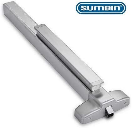 SUMBIN Commercial Push Panic Bar and Panic Exit Device in Stainless Steel Meet ANSI Grade 1