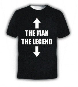 THE MAN THE LEGEND FUNNY SLOGAN T-SHIRT SIZE MEDIUM 38 - 40