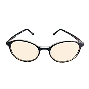 bloobloc Melanin Round Computer Reading Glasses For Kids & Teens - Anti-Blue Light, Anti-Glare & Computer UV Radiation Safety Glasses - Reduce Eye Strain & Fatigue - Flexible Frames (Tortoise Shell)