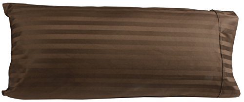 (Egyptian Cotton Luxury Striped 540 Thread Count Body Pillow Cover, 21 x 60 Inch, Striped)