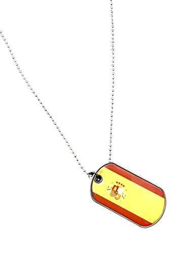 International Charms World Cup 2018 Spanish Flag Necklace Dog tags of the world (Spain) -