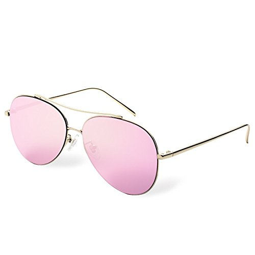 Steampunk Guía Sol TL Vintage Mujer pink de Gafas Guía Nuevas Rosa CA de Gafas Aviador Rosa Sol Sunglasses de q88wxRTt
