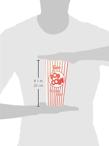 Snappy Popcorn 48E Open-Top Popcorn Box, 100/Case, 6 Pound