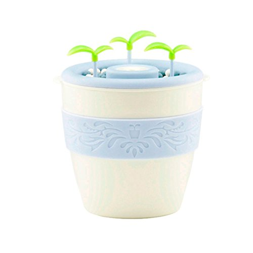 Jujunx Mini USB Negative Ion potted Humidifier Air aromatherapy Humidifier DIY (White) Gallon Potted Plant