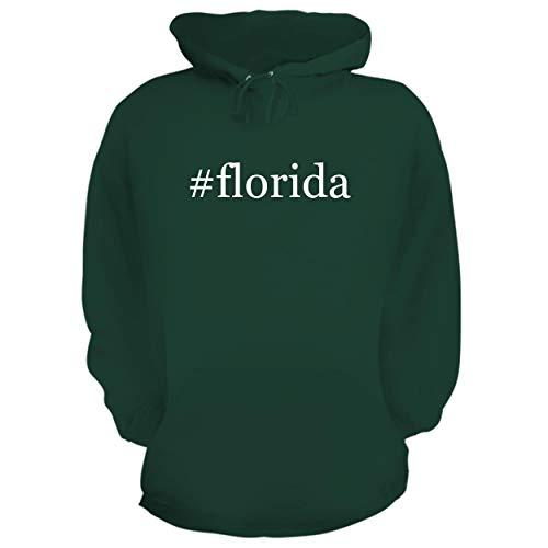 Snowman Gators Florida (BH Cool Designs #Florida - Graphic Hoodie Sweatshirt, Forest, XX-Large)