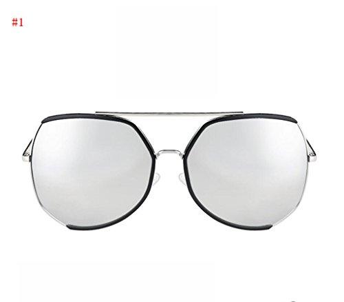 visage 1 Flashing Retro réparation lunettes lunettes Artefact tendance mode soleil Mme Mode de de lunettes 6B68qr