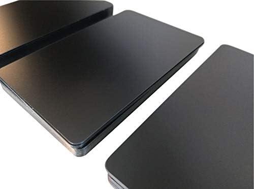 Premium Plastikkarten | PVC Karten Schwarz Matt Dünn | 0,5 mm stark | 5-500 Stück, Rohlinge | blanko, Kartendrucker, NEU! (10)