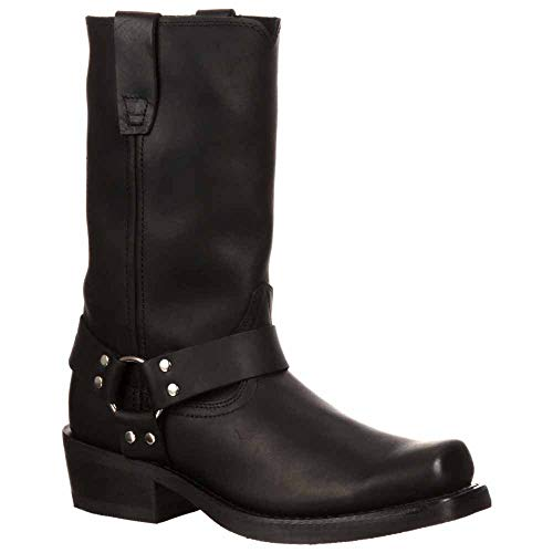 (Durango Men's Harness Boot Square Toe Black 15 EE)