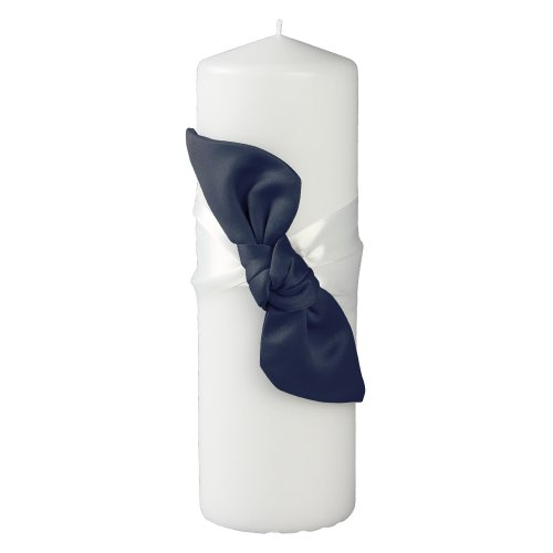 Knot Pillar Unity Candle, Navy ()