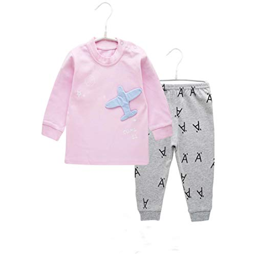 Little Kids Autumn Pajamas Sets,Jchen(TM) Toddler Infant Kids Boys Girl Airplane Print Tops Letter Pants Home Wear Outfits for 0-4 Y (Age: 12-18 Months, Pink) by Jchen Baby Sets