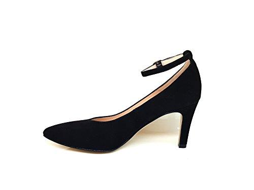 Ante Punta MESHORT Aguja Mujer de Gennia Negro Tacon Zapatos Cerrada de para Piel 36 con Talla Sndxw7xq