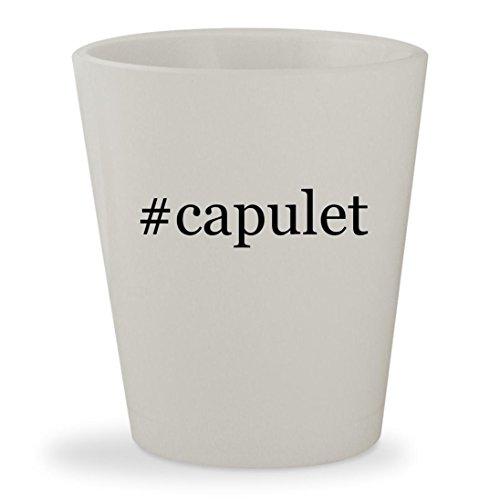 #capulet - White Hashtag Ceramic 1.5oz Shot (Juliet Capulet Costume)