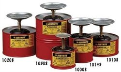 Justrite ® Plunger Can For Flammables - 2 Quart Red - 10208