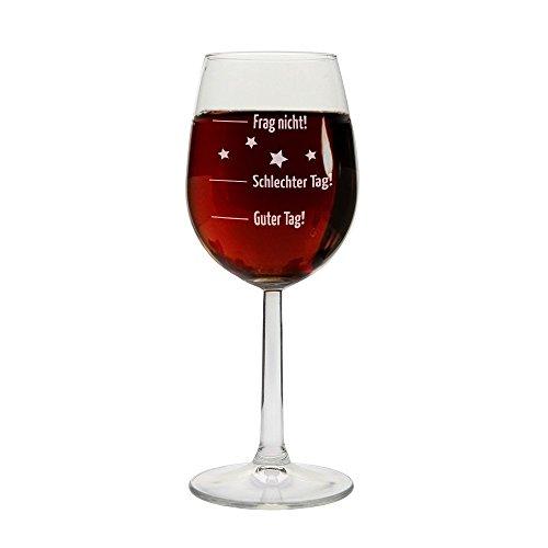 Weingläser mit verschiedenen wählbaren Gravuren, personalisierbar (Guter Tag, schlechter Tag)