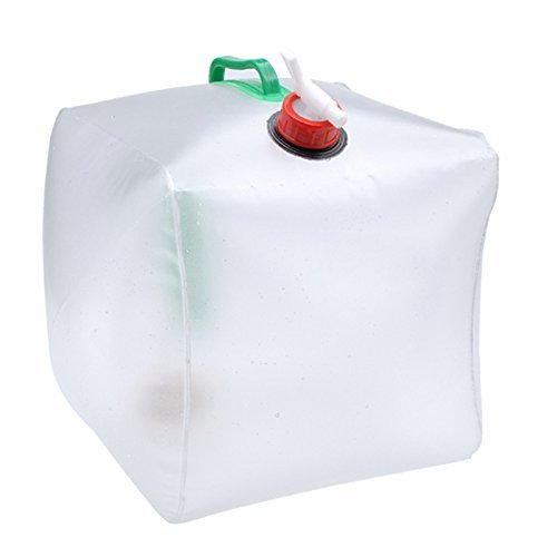 Collapsible Water Container, Topist 5 Gallon/20L Portable Water Carrier Bag, Emergency Cube Water Bag, Food Grade PVC Outdoor Water Storage for Camping Hiking Climbing Backpacking