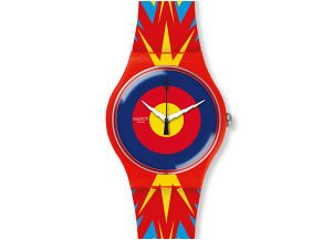 Swatch Unisex Jovatime 41mm Multicolor Silicone Band Plastic Case Swiss Quartz Analog Watch SUOZ220