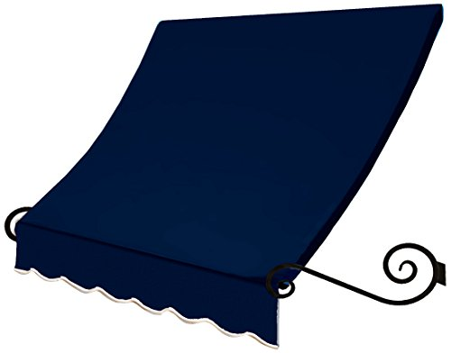 Awntech 8-Feet Charleston Window/Entry Awning, 56 by 36-Inch, Navy ()