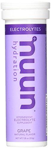 - Nuun Active Effervescent Electrolyte Supplement Tablets - 1 Tube (Grape)