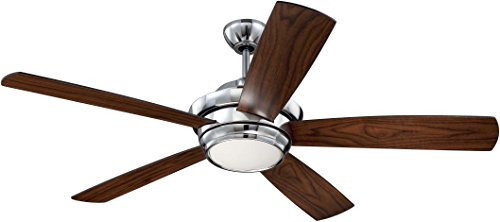 Cheap Ceiling Fan with Dimmable LED Light and Remote by Craftmade TMP52CH5 Tempo Chrome 52 Inch Uplight Fan