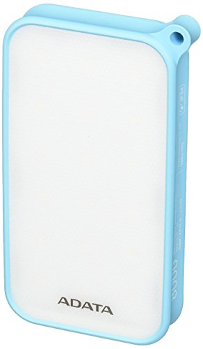 ADATA AD8000L-5V-CBL Power Bank, 8000 mAh, Resistente a Agua/Iluminación LED, Color Azul