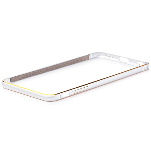 Wood Aluminum Metal Bumper Frame Case For iPhone 6s plus (Gold) - 6