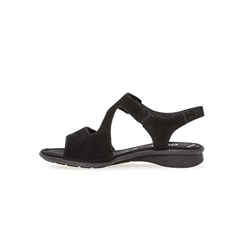 Nero Caviglia Basic Donna 47 Comfort Cinturino Con Sandali Alla schwarz Gabor Uq85ZYww