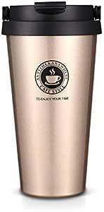 كوب قهوة محمول من الفولاذ المقاوم للصدأ بسعة 500 مل، عملي كوب زجاج للسيارة