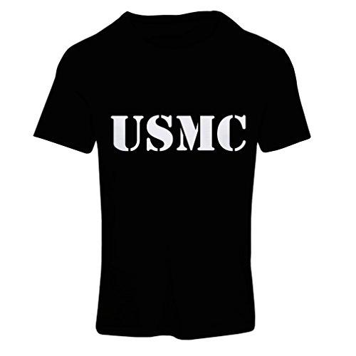 lepni.me N4446F T Shirts For Women USMC (X-Large Black White) (Homeland Security Uniform)